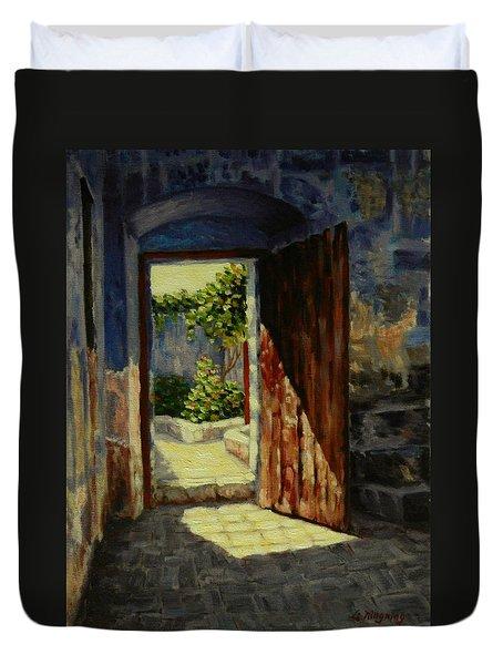 Through The Door, Peru Impression Duvet Cover