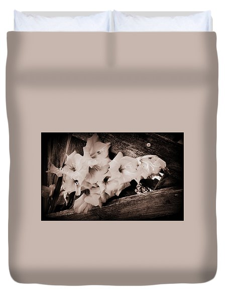 Through The Fence Duvet Cover by Diane Reed
