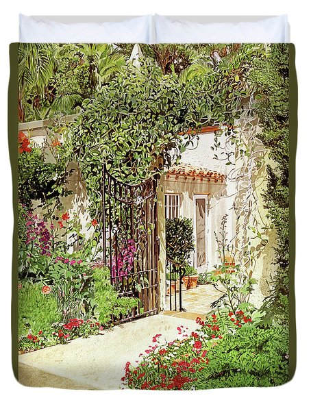 Through The Garden Gate Duvet Cover