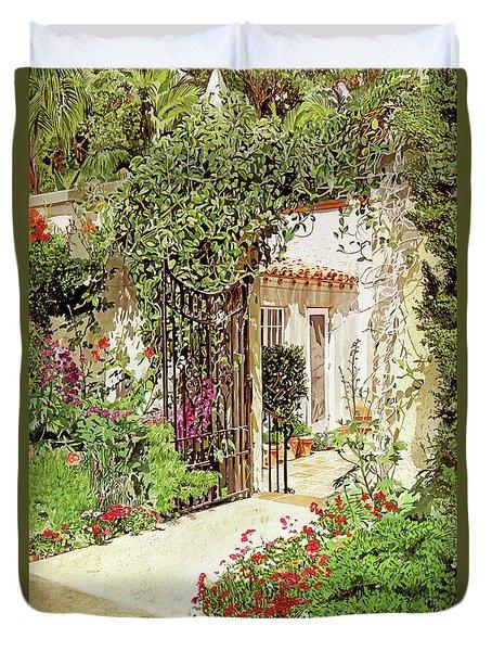 Through The Garden Gate Duvet Cover
