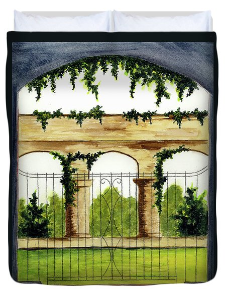 Through The Gates Duvet Cover by Michael Vigliotti