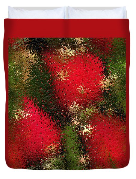 Strawberries Behind  The Glass Duvet Cover by Maciek Froncisz