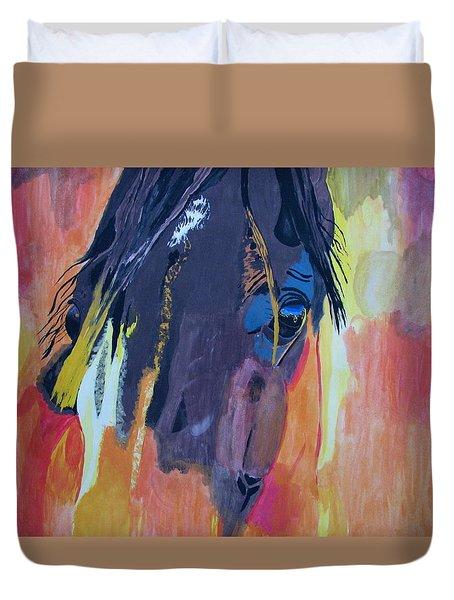 Through The Horse's Eyes Duvet Cover