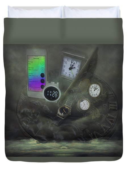 Through The Mists Of Time Duvet Cover