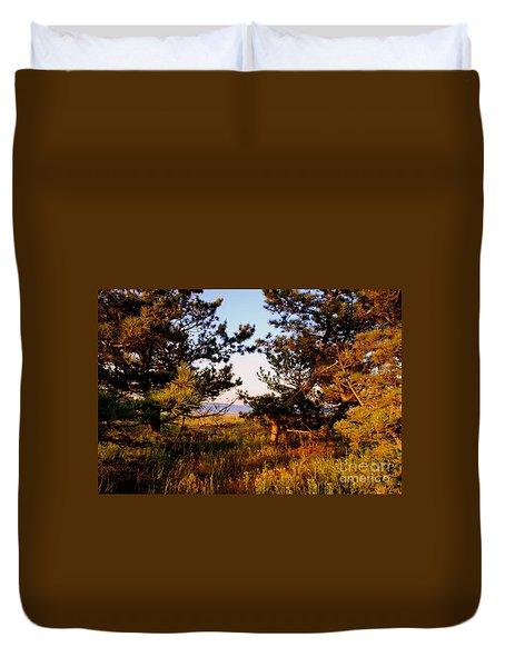 Through The Pine Grove Duvet Cover