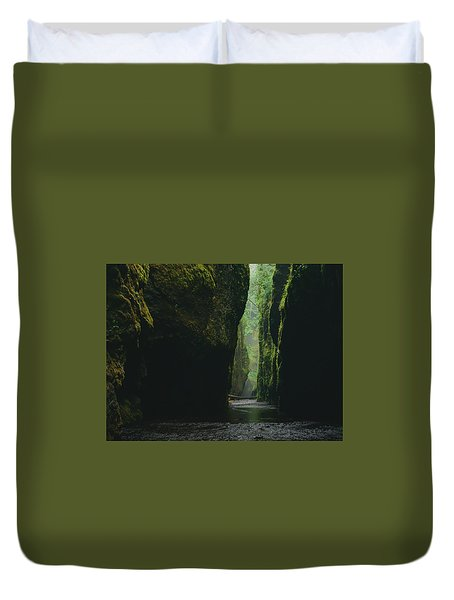 Through The River Duvet Cover