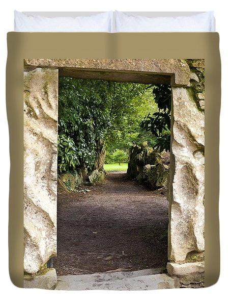 Through The Stone Wall Duvet Cover by Rae Tucker