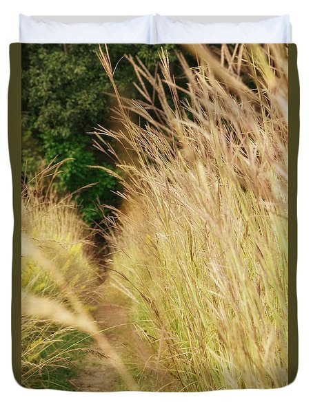 Duvet Cover featuring the photograph Through The Tall Grass by Nikki McInnes