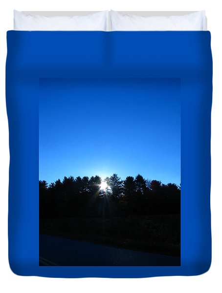 Through The Trees Brightly Duvet Cover