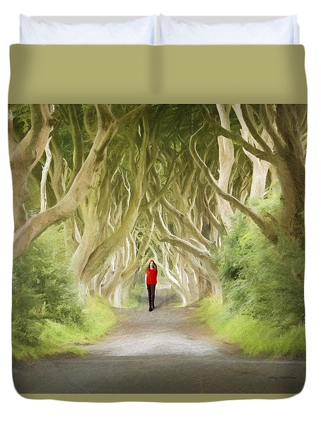 Through The Trees Duvet Cover by Roy  McPeak