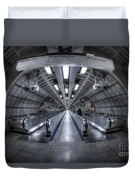 Through The Tunnel Duvet Cover by Evelina Kremsdorf