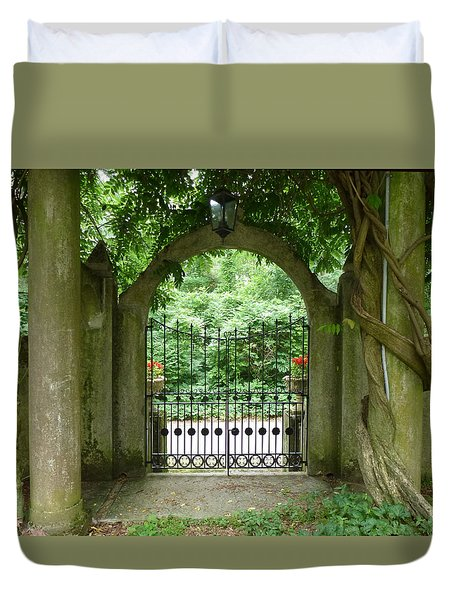 Through The Tuscan Gate Duvet Cover