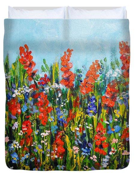 Through The Wild Flowers Duvet Cover
