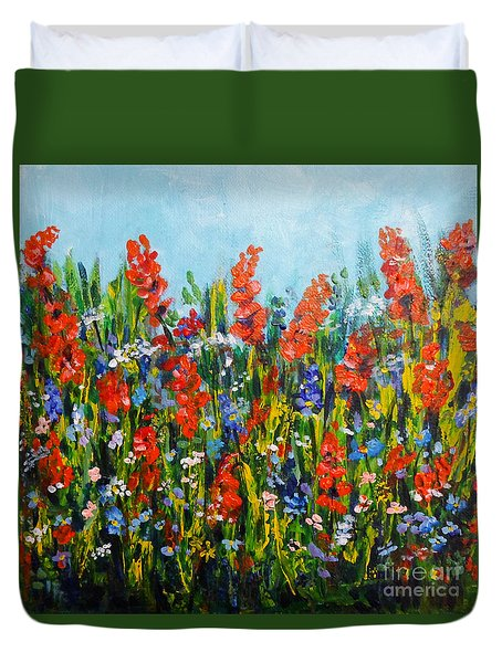 Through The Wild Flowers Duvet Cover