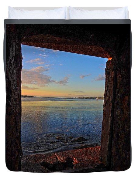 Through The Window Duvet Cover