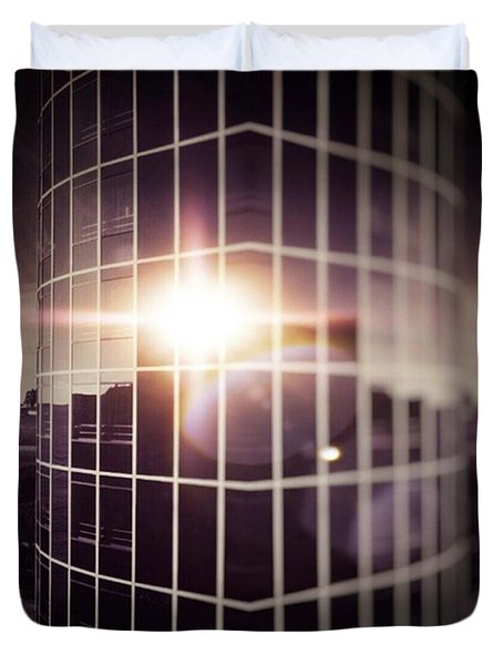 Through The Windows Duvet Cover