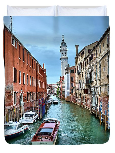 Through Venetian Canals Duvet Cover