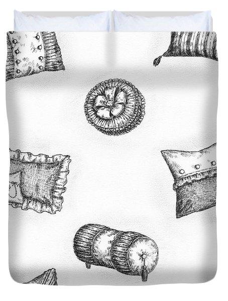 Throw Pillows Duvet Cover by Adam Zebediah Joseph