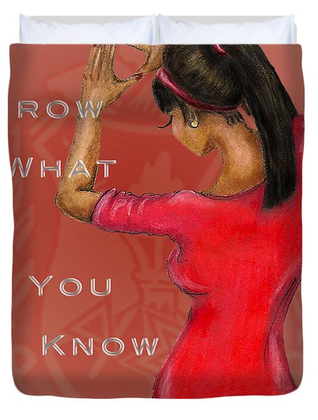 Throw What You Know Series - Delta Sigma Theta 2 Duvet Cover