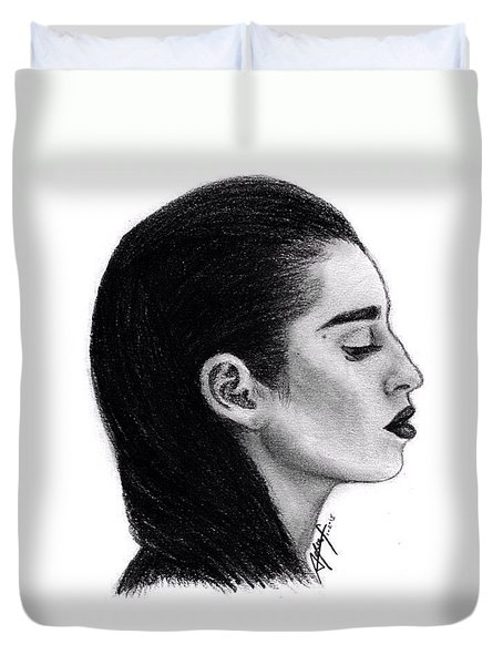 Lauren Jauregui Drawing By Sofia Furniel Duvet Cover