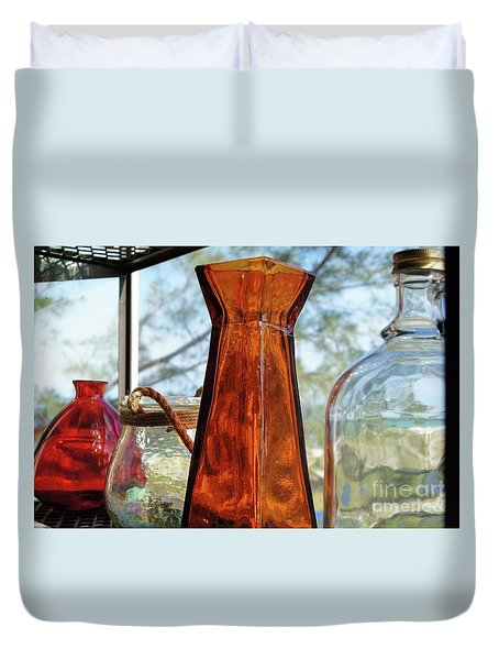 Thru The Looking Glass 1 Duvet Cover by Megan Cohen