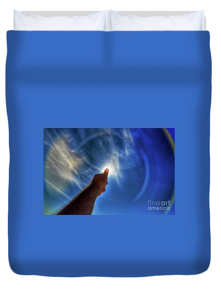 Thumb To The Sky Duvet Cover