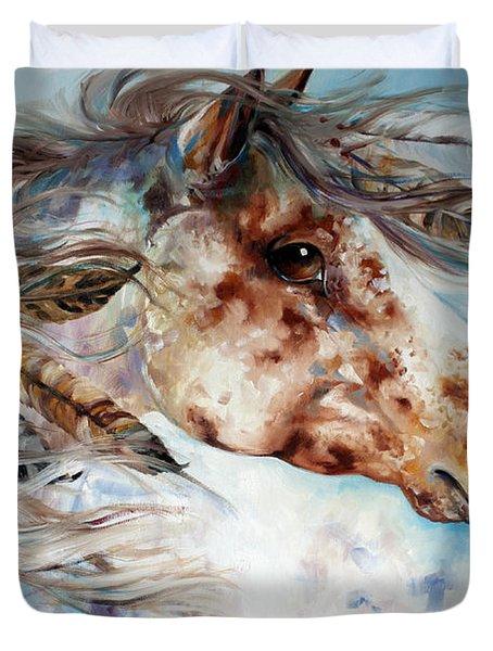 Thunder Appaloosa Indian War Horse Duvet Cover