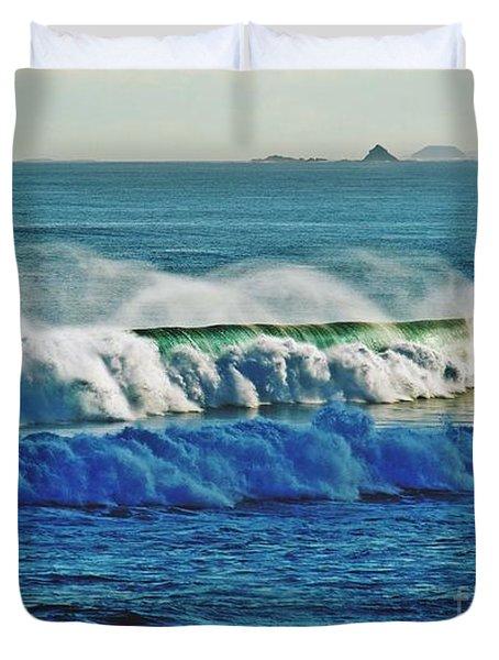 Thunder Of The Waves Duvet Cover by Blair Stuart
