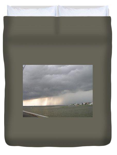 Thunder On The Bay Duvet Cover