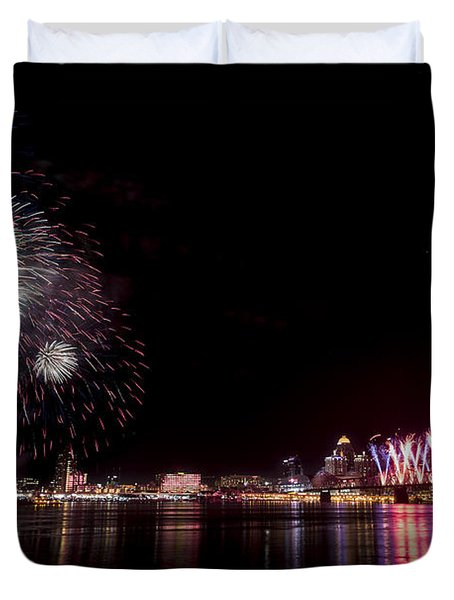 Thunder Over Louisville Duvet Cover