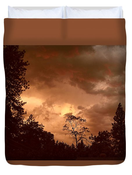 Thunder Sunset Duvet Cover by Michele Myers