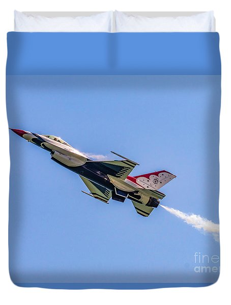 Duvet Cover featuring the photograph Thunderbird #5 by Nick Zelinsky