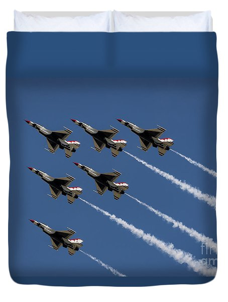 Duvet Cover featuring the photograph Thunderbird Formation by Andrea Silies