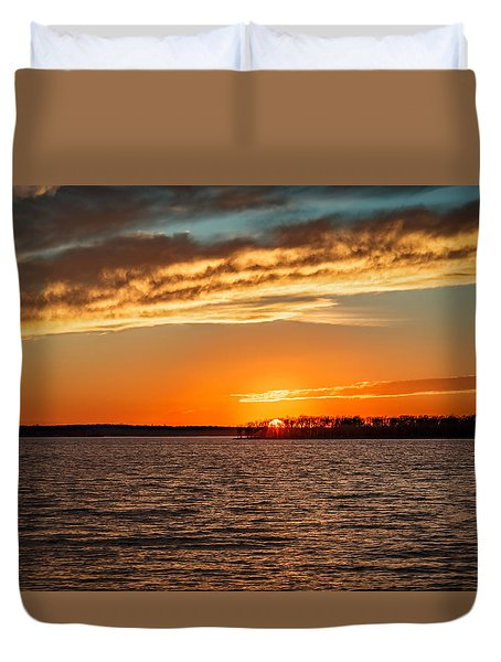 Thunderbird Sunset Duvet Cover by Doug Long
