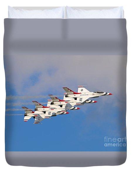 Thunderbirds Stacked 2 Duvet Cover