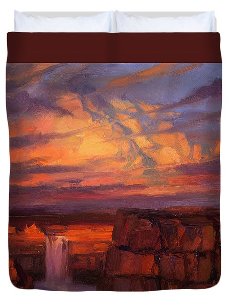 Thundercloud Over The Palouse Duvet Cover