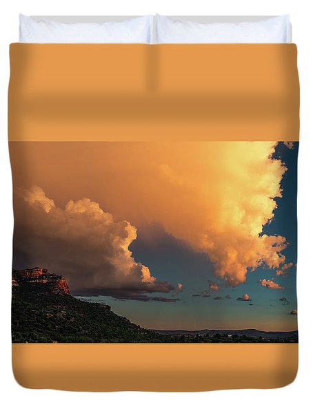 Thunderhead In Sedona Duvet Cover