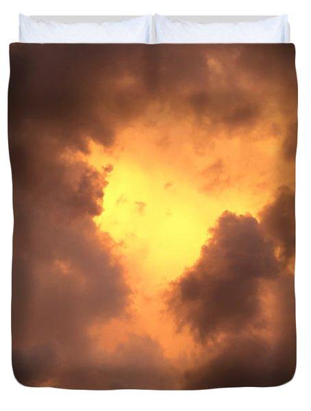 Thunderous Sunset Duvet Cover