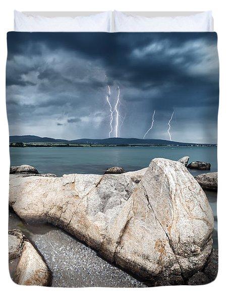 Thunderstorm  Duvet Cover by Evgeni Dinev