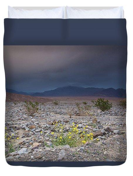 Thunderstorm Over Death Valley National Park Duvet Cover
