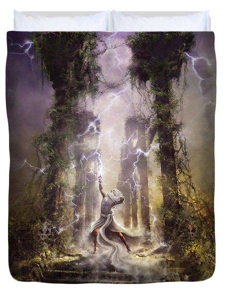 Thunderstorm Wizard Duvet Cover