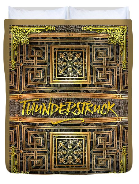 Thunderstruck Opera Garnier Ornate Mosaic Floor Paris France Duvet Cover
