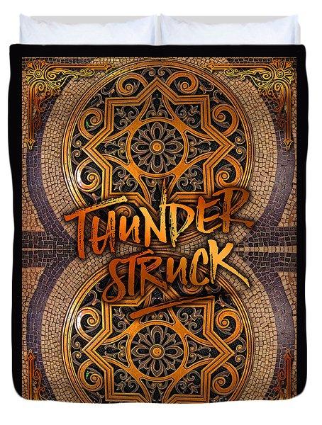 Thunderstruck Palais Garnier Opera Mosaic Floor Paris France Duvet Cover