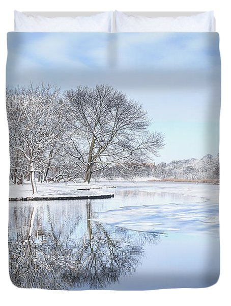 The March Of Winter Duvet Cover