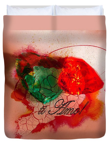 Duvet Cover featuring the photograph Ti Amo Too by Richard Ricci
