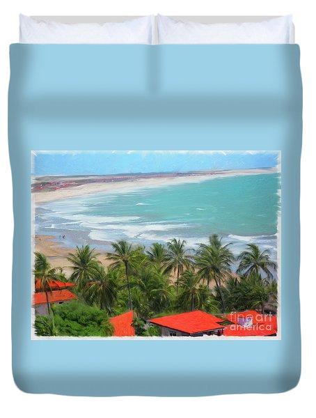Tiabia, Brazil Beach Duvet Cover