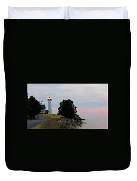 Tibbetts Point Light Sunset Duvet Cover