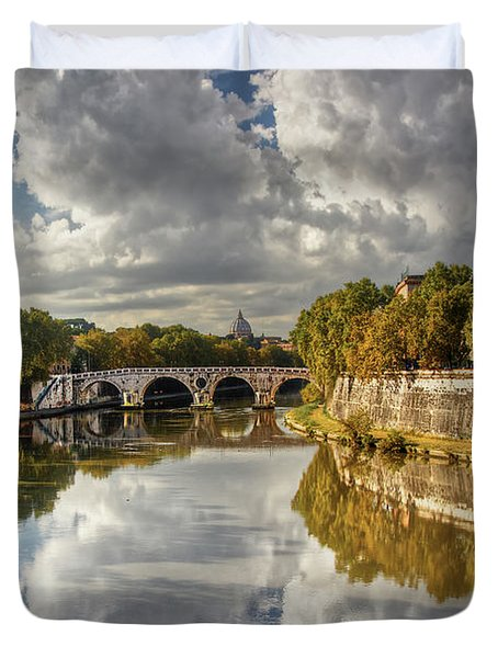 Tiber Morning Duvet Cover