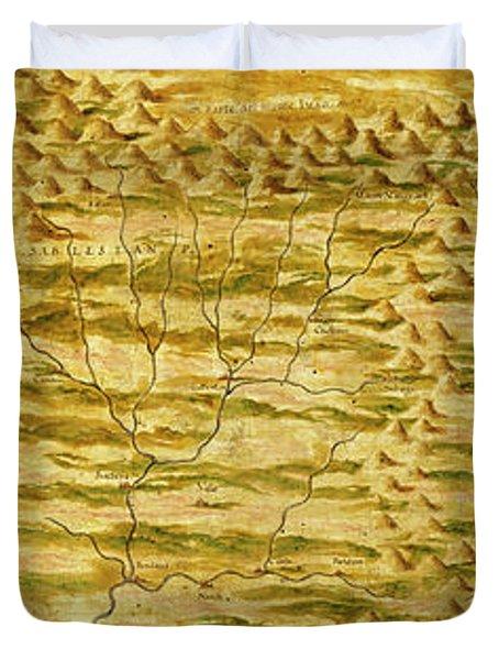 Tibet, Nepal And Northern Hindustan Duvet Cover