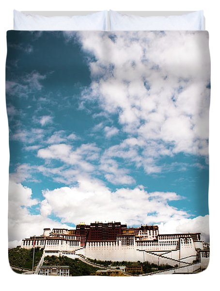 Tibet Potala Palace Dalai Lama Home Place. Kailash Yantra.lv 2016  Duvet Cover